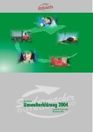 Umwelterklärung Saubermacher Oursourcing