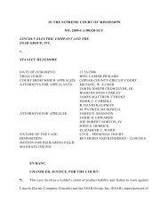 the Mississippi Supreme Court reversed the plaintiff's verdict in the ...
