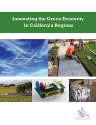 Innovating the Green Economy in California Regions - Center for ...