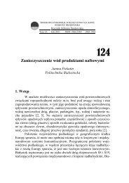Zanieczyszczenie wód produktami naftowymi - Rocznik Ochrony ...