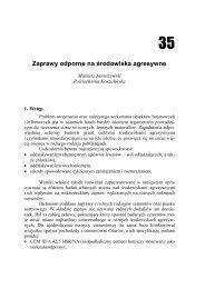 Zaprawy odporne na środowiska agresywne - Rocznik Ochrony ...