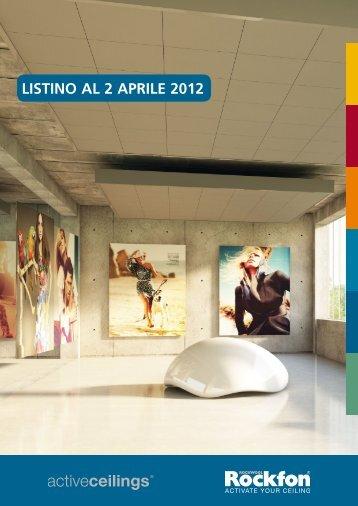 LISTINO AL 2 APRILE 2012 - Prodotti - Rockfon
