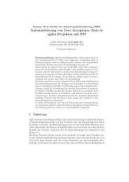 Automatisierung von User Acceptance Tests in agilen Projekten mit ...