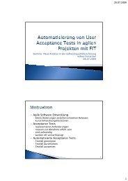 Automatisierung von User Acceptance Tests in agilen Projekten