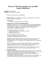 Referat TR-Regionsmøde 26. maj 2008 - Danske Fysioterapeuter