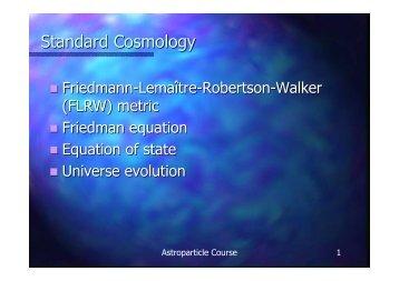 Standard Cosmology