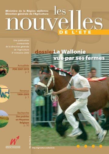 La Wallonie vue par ses fermes - Portail de l'Agriculture wallonne