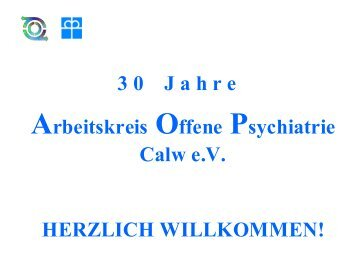 1995 Einweihung der neuen Räumlichkeiten des ... - aop-calw.de