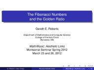 The Fibonacci Numbers and the Golden Ratio - Mathematics and ...