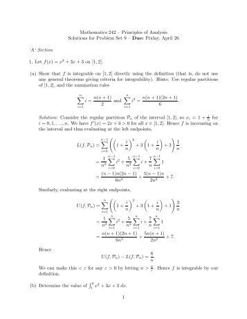 Solutions - Mathematics and Computer Science