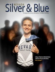Nevada Silver & Blue: September/October 2005 - University of ...