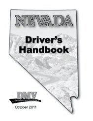 Nevada Driver Handbook - October 2011 - Improv Traffic School