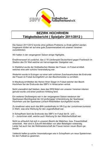 4-A-Tätigkeitsbericht 2011.pdf - Bezirk Hochrhein - SBFV