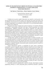73 ASPECTE FILOGENETICE OBŢINUTE ÎN BAZA ANALIZEI PRO ...