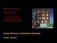 Energy Efficiency in Residential Buildings London Mai 2011