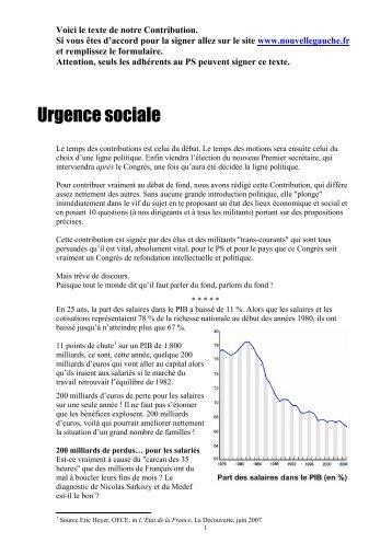 Urgence sociale - Le Nouvel Observateur