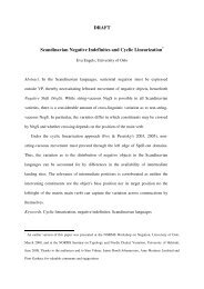 DRAFT Scandinavian Negative Indefinites and Cyclic Linearization*