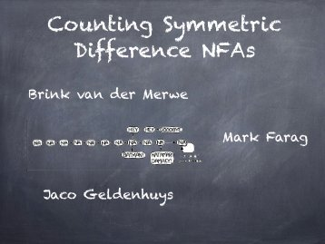 Counting Symmetric Difference NFAs