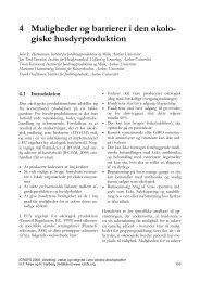 4 Muligheder og barrierer i den økolo- giske husdyrproduktion