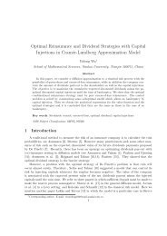 Optimal Reinsurance and Dividend Strategies with Capital ... - EMIS