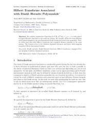 Hilbert Transforms Associated with Dunkl–Hermite Polynomials*