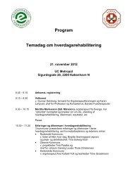 Program Temadag om hverdagsrehabilitering - Danske ...