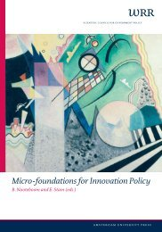 Micro-foundations for Innovation Policy - Wetenschappelijke Raad ...