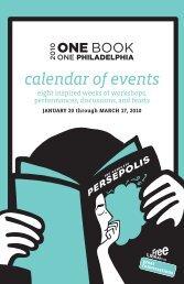 calendar of events - Free Library of Philadelphia
