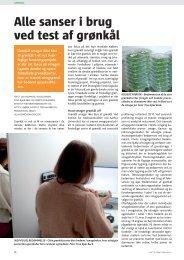 Alle sanser i brug ved test af grønkål - PURE - Aarhus Universitet