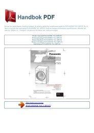 Bruker manual PANASONIC NA-140VZ4 - HANDBOK PDF