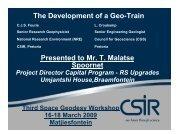 Geo-Train - Space Geodesy Programme