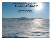 Global Change and Space Science: Does Space Geodesy Fit?