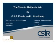 The Train to Matjiesfontein - Space Geodesy Programme