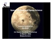 Space Geodesy and Space Science - Space Geodesy Programme