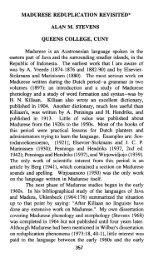 madurese reduplication revisited* alan m. stevens ... - SEAlang