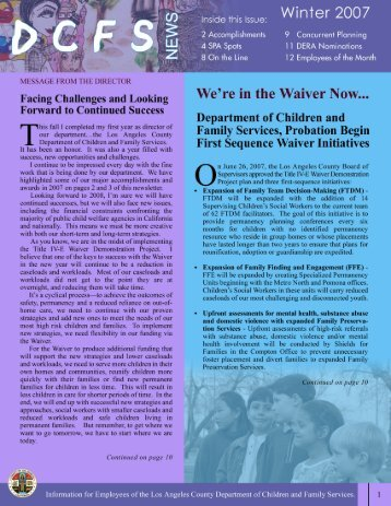 DCFS News Winter Issue (PDF) - Los Angeles County Department ...