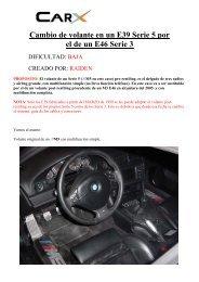 Cambio volante E39.pdf - BMW Carx Spain