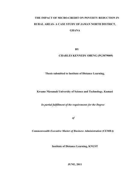 cemba knust thesis