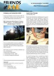 6. Vereinsnewsletter - Stiftung Maria Ebene