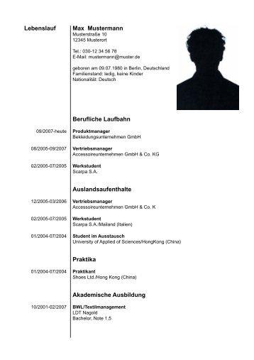 Erfreut Bildung Lebenslauf Gymnasium Bilder - Beispiel Business ...