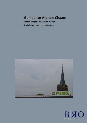 Voorontwerp Bestemmingsplan - Centrumalphen