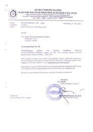 laporan realisasi bsm tahun 2013 - Kemenag Sumsel