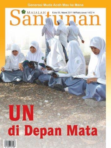 Majalah Santunan edisi Maret 2011 - Kementerian Agama Prov Aceh