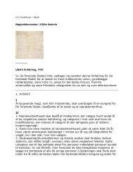 Nøgledokumenter i USAs historie USA's forfatning, 1787 Vi, De ...