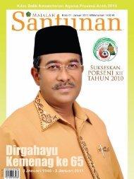 Majalah Santunan edisi Januari 2011 - Kementerian Agama Prov ...