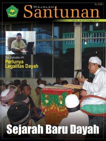 Majalah Santunan edisi Juli 2010 - Kementerian Agama Prov Aceh