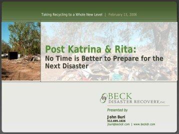 Post Katrina & Rita: - Solid Waste Association of North America