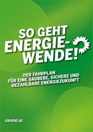 Der grüne Energiefahrplan!
