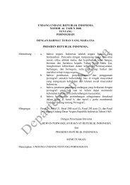 UU No 44 Tahun 2008 - Portal Kementerian Agama RI