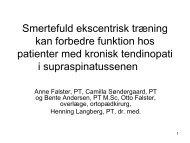 Smertefuld ekscentrisktræning kan forbedre funktion hos patienter ...